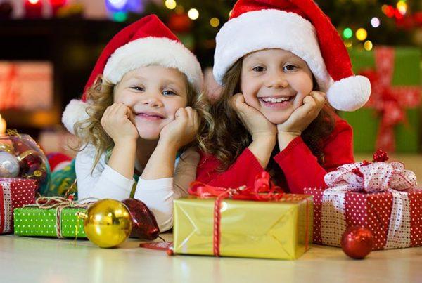 HolidayFlooring Survival Guide Kids with Santa Hats